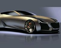 Genesis coupe concept sketch