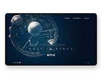 NETFLIX LOST IN SPACE - WEBSITE - DESIGN CONCEPT