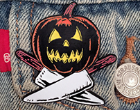 """Glowing Jack O' Lantern enamel pin"""