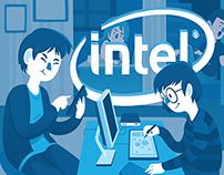 Ilustrações campanha Intel Descomplica - Tecmundo