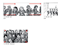 """Storyboards: """"Against the Wind"""" (video segment)"""