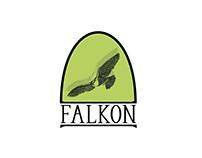 Falkon custom logo design by Sublign