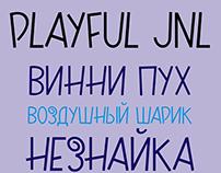 Playful JNL with cyrillic