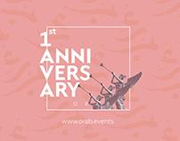 Orab Events | 1st Year Anniversary Portfolio