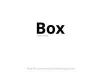 Box - UI Kit Free for Adobe XD