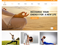 Yoga & Fittness Website Design, Development
