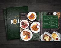 Pub design menu, food style