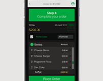 Review your Order UI/UX design for App ( iPhone 6 )