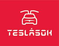 Teslasok.hu identity