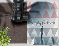 Portfolio Layout with Triangle Pattern