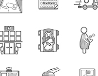 Gynecology, 22 Line Icons
