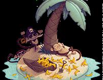 Monkey Desert Island