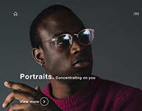 Photographer's website. Adobe XD