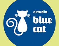 Logo Estudio Blue Cat - Andrea Báez