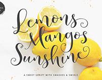 Lemons Mangos Sunshine Hand-lettered Script