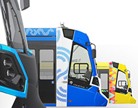 The Stadler tram logo and graphics for cities