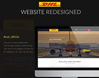 DHL Website ReDesigned (Not official)