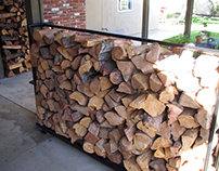 Industrial Chic Firewood Stand