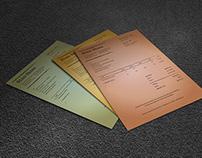 Vintage Invoice Template Lotus
