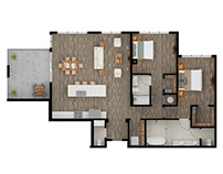 2D Floor Plan Rendering Services Los Angeles California