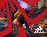 Spiderman Miles Morales Adidas Superstar Poster