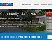 Mobile Wireframes Community Mailboxes Rollout