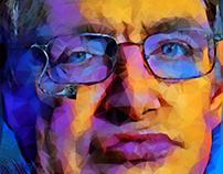 Stephen Hawking Low Poly by Maria Afroditi Patsi