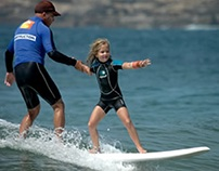 Surfing with a kid