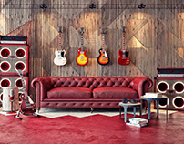 Gibson Guitarist Room / In Memory of Gary Moore