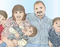 Ilustración digital - Familia Arequipeña