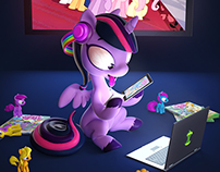 My Little Pony Illustration for the Cover of AdWeek