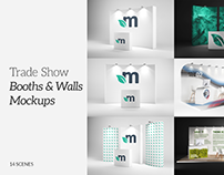 Trade Show Booths & Walls Mockups