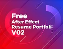 Free Download After Effect Degital Portfolio Resume/CV