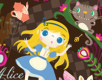 Book cover - Alice In Wonderland