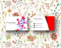 Red Flower - Business Card