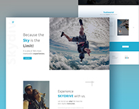 Skydive Landing Page Concept