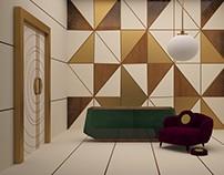 contemporary art interior