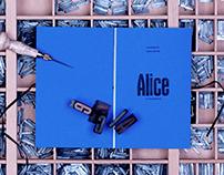 ALICE . Buchgestaltung
