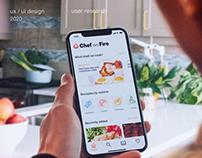 Food app UX research and UI development