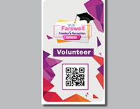 Farewell Logo and ID Card design