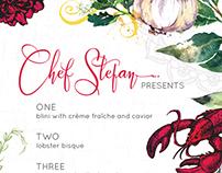 Create an Illustrative Restaurant Taster Menu