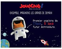 Affiche JouéClub. Théo, astronaute.