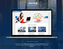 E-Learning Website UI