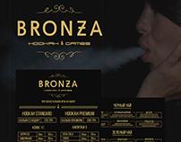 Branding and web site for BRONZAHOOKAH Bar