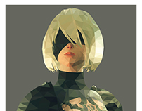 2b Nier Automata Polygon art