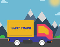 Express Lorry - Illustrations work.Express Lorry