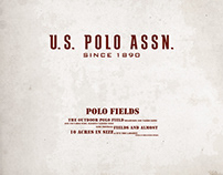 Us Polo Assn, shop window design. / Watercolor