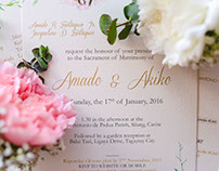 Amado and Akiko Wedding Invitation (2016)