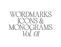 Wordmarks, Icons & Monograms, Vol. 01