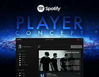 UI/UX Design Inspiration : Spotify Player Concept